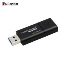 金士顿(Kingston)128GB USB3.0 U盘 DT100G3 黑色 滑盖设计 时尚便利