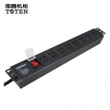 图腾(TOTEN)8位16APDU 机柜电源分配器 3米