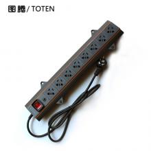 图腾(TOTEN)机柜插座 8位10APDU机柜电源分配器 3米
