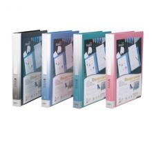 齐心 NF407A-S 办公必备活页资料册 A4 40袋30孔塑胶夹 蓝