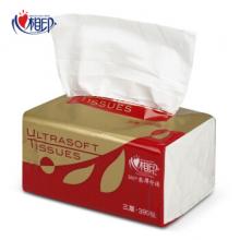 心相印 抽纸整箱红悦系列3层塑装纸无香面巾箱装 DT37130(3层*130抽*6包)