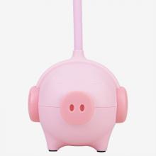 得力(deli)创意小猪台灯/卧室灯 LED减蓝光学生台灯 三档调节 17851
