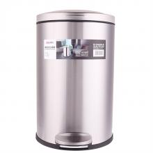 得力9552脚踏式垃圾桶(银)