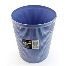 得力9581圆形清洁桶 垃圾桶(深蓝)(只)