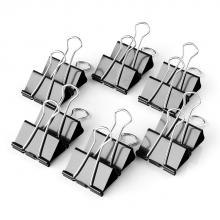 得力 9546 黑色长尾票夹长尾夹筒装 15mm(3/5) (单位:盒) 黑色
