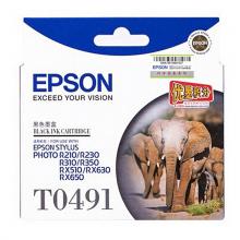 通用耗材 爱普生 T0491 原装墨盒  黑色R210/R230/310/RX510/650
